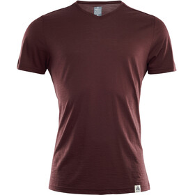 Aclima LightWool V-Neck T-Shirt Men Bitter Chocolate